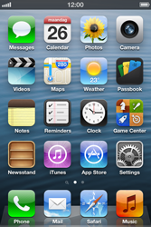 Apple iPhone 3GS - Getting started - personalising your Start screen - Step 1