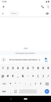 Google Pixel 3 - Contact, Appels, SMS/MMS - Envoyer un SMS - Étape 8