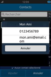 Samsung Wave M - Contact, Appels, SMS/MMS - Envoyer un SMS - Étape 6