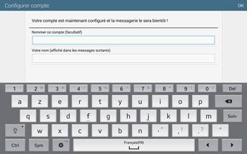 Samsung T805 Galaxy Tab S - E-mail - configuration manuelle - Étape 18