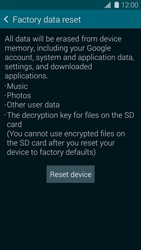 Samsung G900F Galaxy S5 - Device - Factory reset - Step 7
