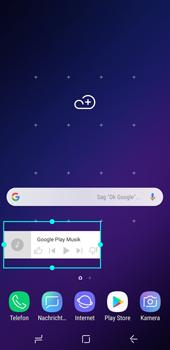 Samsung Galaxy S9 - Startanleitung - Installieren von Widgets und Apps auf der Startseite - Schritt 7