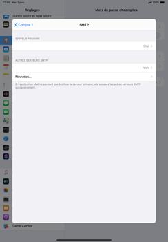 Apple iPad Pro 11 (2018) - iPadOS 13 - E-mail - configuration manuelle - Étape 20
