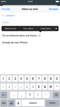 Apple iPhone 6 Plus iOS 9 - E-mail - Envoi d