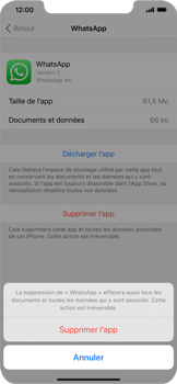 Apple iPhone XS Max - iOS 13 - Applications - Comment désinstaller une application - Étape 7