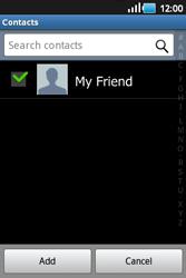 Samsung S5660 Galaxy Gio - E-mail - Sending emails - Step 6
