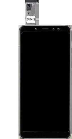 Samsung Galaxy A8 - Premiers pas - Insérer la carte SIM - Étape 10