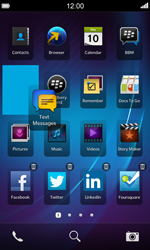 BlackBerry Z10 - Getting started - Personalising your Start screen - Step 4