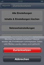 Apple iPhone 4 - Fehlerbehebung - Handy zurücksetzen - 9 / 10