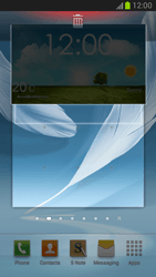 Samsung Galaxy Note II - Getting started - Installing widgets and applications on your start screen - Step 8