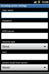 Samsung S7500 Galaxy Ace Plus - E-mail - Manual configuration - Step 7
