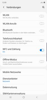 Samsung Galaxy Note 10 - Internet und Datenroaming - Prüfen, ob Datenkonnektivität aktiviert ist - Schritt 5