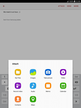 Samsung T815 Galaxy Tab S2 9.7 - E-mail - Sending emails - Step 11