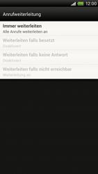 HTC S720e One X - Anrufe - Rufumleitungen setzen und löschen - Schritt 8