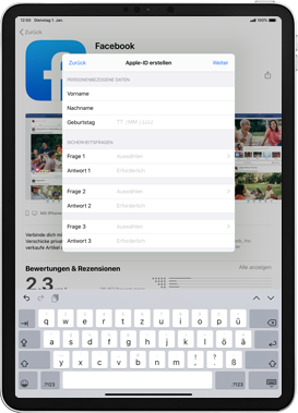 Apple iPad 9.7 (2017) - iPadOS 13 - Apps - Einrichten des App Stores - Schritt 13