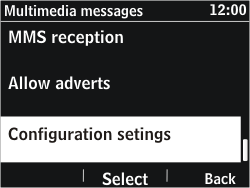 Nokia Asha 302 - Settings - Configuration message received - Step 10