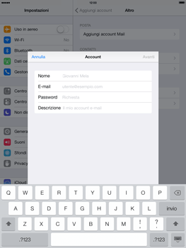 Apple iPad Air - E-mail - configurazione manuale - Fase 7