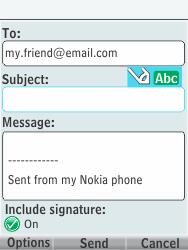 Nokia 301-1 - E-mail - Sending emails - Step 10