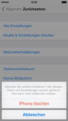 Apple iPhone 5c - Gerät - Zurücksetzen auf die Werkseinstellungen - Schritt 8