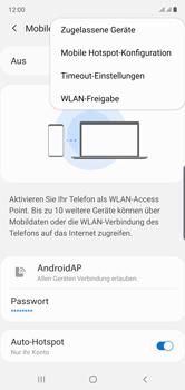 Samsung Galaxy Note 10 - WiFi - So aktivieren Sie einen WLAN-Hotspot - Schritt 8