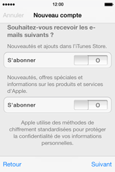 Apple iPhone 4 S iOS 7 - Applications - Créer un compte - Étape 17