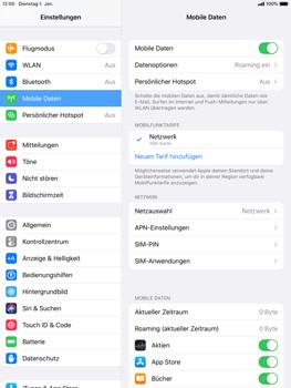 Apple iPad 9.7 (2017) - iPadOS 13 - Internet und Datenroaming - Deaktivieren von Datenroaming - Schritt 4