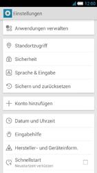 Alcatel One Touch Idol S - Gerät - Zurücksetzen auf die Werkseinstellungen - Schritt 4