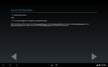 Sony Xperia Tablet Z LTE - Apps - Konto anlegen und einrichten - Schritt 19