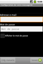 Alcatel OT-991 Smart - E-mail - Configuration manuelle - Étape 8