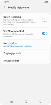 Samsung Galaxy S9 - Android Pie - Netzwerk - So aktivieren Sie eine 4G-Verbindung - Schritt 8