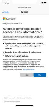 Apple iPhone XR - E-mail - Configurer l