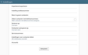 Samsung Galaxy Tab4 10.1 4G (SM-T535) - Contacten en data - Contacten kopiëren van SIM naar toestel - Stap 10
