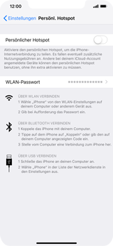 Apple iPhone XS Max - Internet - Mobilen WLAN-Hotspot einrichten - 5 / 7