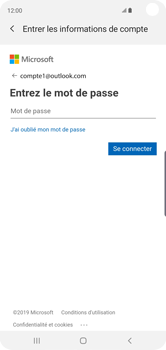 Samsung Galaxy S10 - E-mail - 032c. Email wizard - Outlook - Étape 8