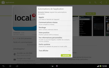 Sony Xperia Tablet Z LTE - Applications - Installation d
