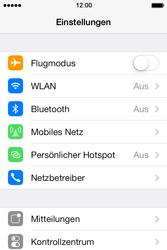 Apple iPhone 4 S mit iOS 7 - Netzwerk - Netzwerkeinstellungen ändern - Schritt 3