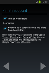 Samsung Galaxy Fame Lite - Applications - Setting up the application store - Step 20