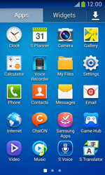 Samsung Galaxy Ace III - Getting started - Installing widgets and applications on your start screen - Step 6