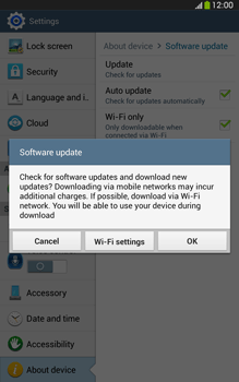 Samsung Galaxy Tab 3 8-0 LTE - Software - Installing software updates - Step 8