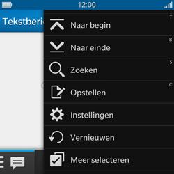 BlackBerry Q10 - SMS - handmatig instellen - Stap 4