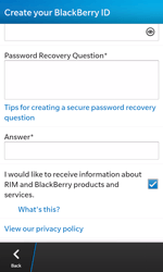 BlackBerry Z10 - Applications - Setting up the application store - Step 12