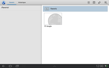 Samsung P7500 Galaxy Tab 10-1 - Internet - navigation sur Internet - Étape 7