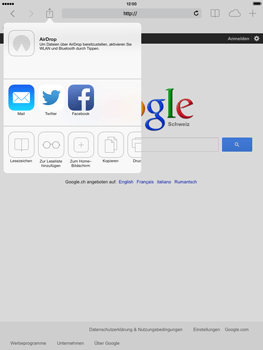 Apple iPad mini iOS 7 - Internet und Datenroaming - Verwenden des Internets - Schritt 6