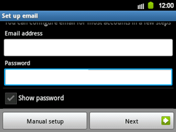 Samsung B5510 Galaxy TXT - E-mail - Manual configuration - Step 5