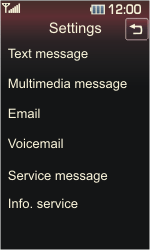 LG KP500 Cookie - Voicemail - Manual configuration - Step 4