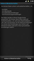 Sony Xperia S - Apps - Konto anlegen und einrichten - 18 / 21