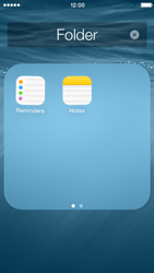 Apple iPhone 5c - iOS 8 - Getting started - Personalising your Start screen - Step 7
