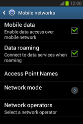 Samsung Galaxy Fame Lite - Internet and data roaming - Disabling data roaming - Step 6
