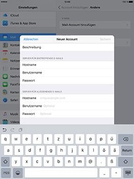 Apple iPad Mini 4 - E-Mail - Konto einrichten - 0 / 0