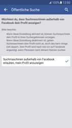 Samsung Galaxy S7 - Datenschutz und Sicherheit - Datenschutzeinstellungen von Facebook ändern - 33 / 35